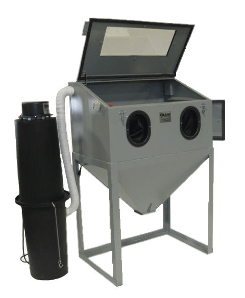 Cyclone Model 3624 Abrasive Sandblasting Cabinet - Front Open Right