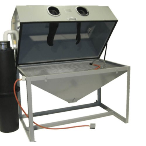 cyclone-ft6035-abrasive-bead-blasting-cabinet-closed-open
